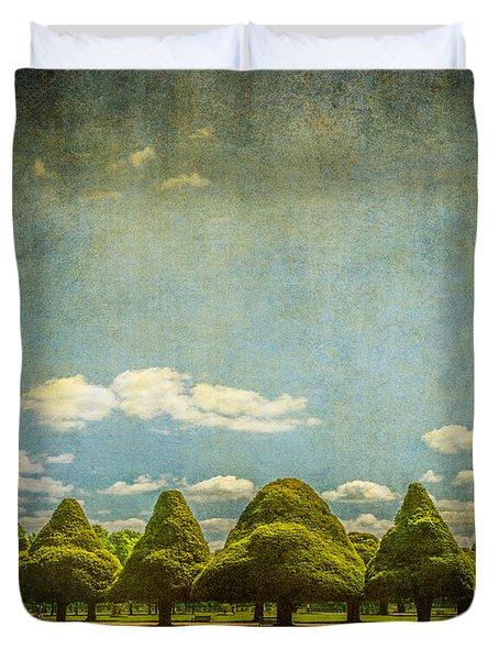 Triangular Trees 003 Duvet Cover