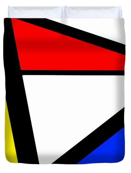 Triangularism I Duvet Cover