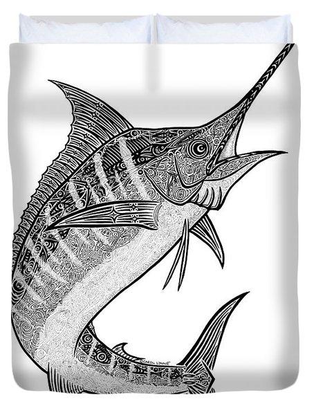 Tribal Marlin IIi Duvet Cover