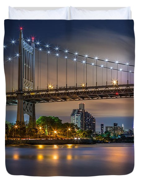 Triboro Bridge Duvet Cover by Mihai Andritoiu