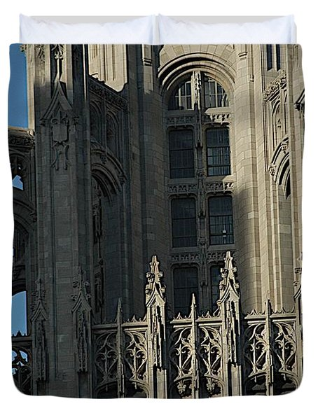 Tribune Tower Duvet Cover by Joseph Yarbrough