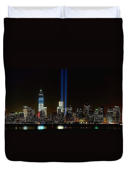 Tribute In Light From Bayonne Duvet Cover