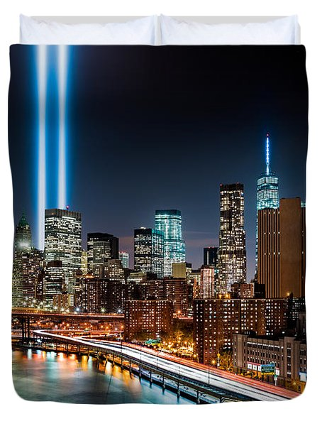 Tribute In Light Memorial Duvet Cover by Mihai Andritoiu