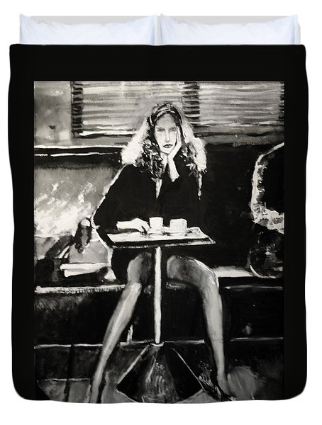 Tribute To Helmut Newton Duvet Cover