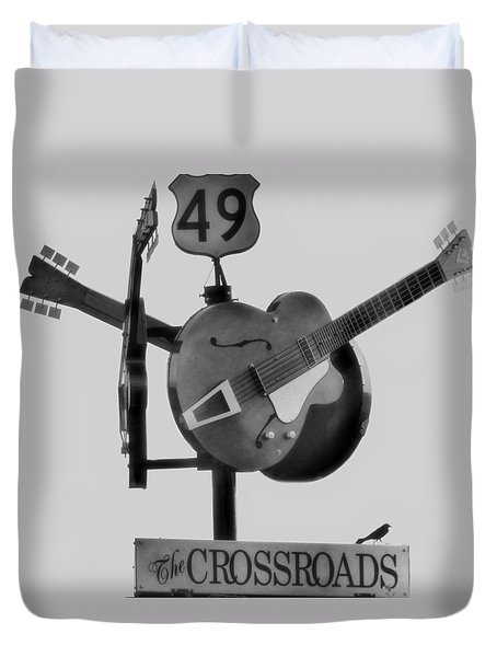Tribute To The Blues At The Crossroads Duvet Cover by Dan Sproul