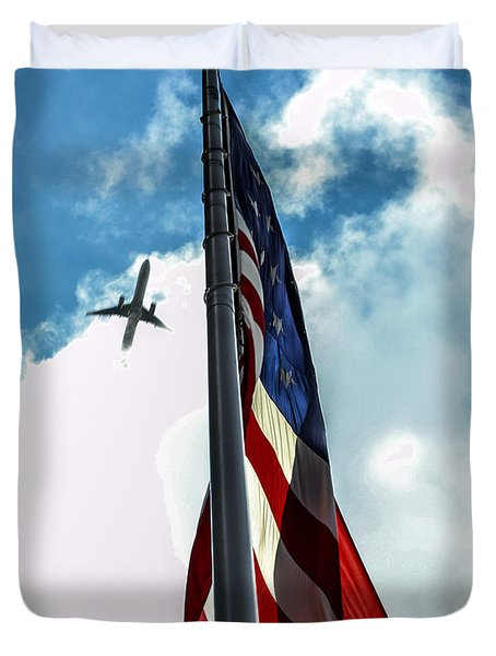 Tribute To The Day America Stood Still Duvet Cover