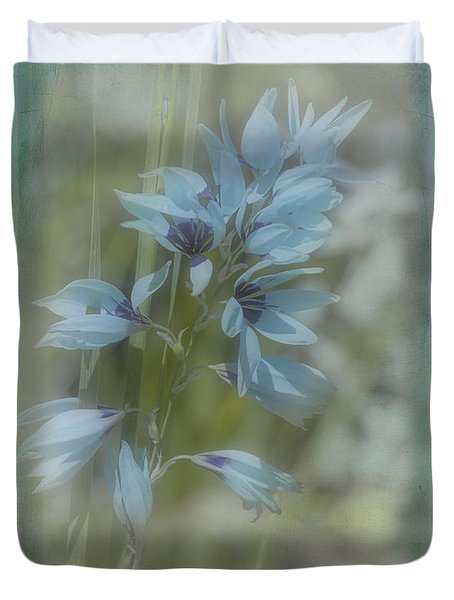Duvet Cover featuring the photograph Tricia by Elaine Teague