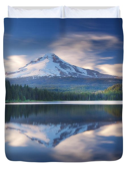 Trillium Lake Escape Duvet Cover