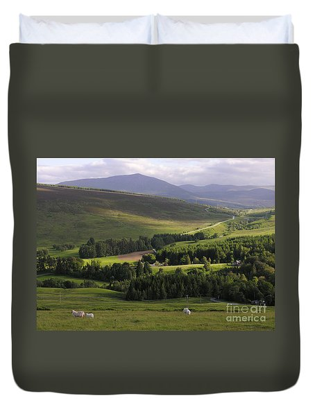 Duvet Cover featuring the photograph Summer In The Hills Of Perthshire  by Phil Banks