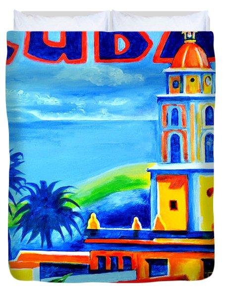 Trinidad Cuba Duvet Cover by Victor Minca