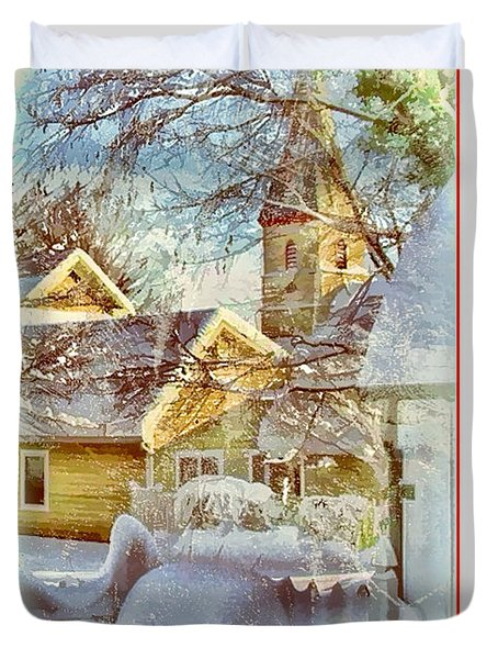 Trinity Episcopal Church In The Snow - Shepherdstown  Duvet Cover