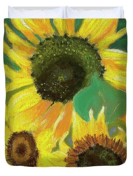 Triple Gold Duvet Cover by Arlene Crafton