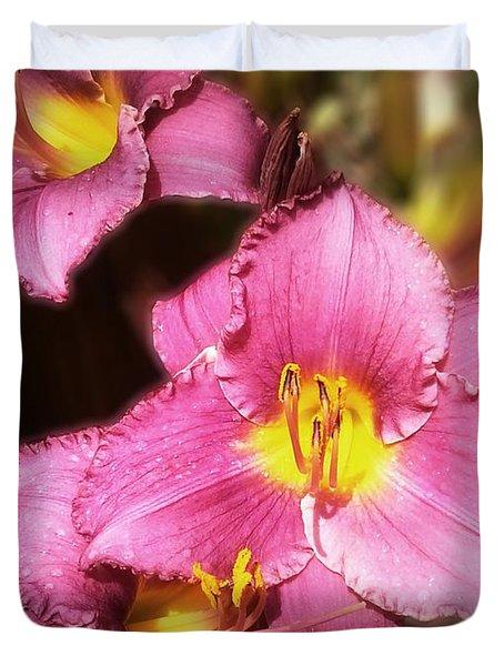 Triple Lilies Duvet Cover