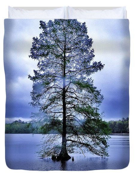 The Healing Tree - Trap Pond State Park Delaware Duvet Cover