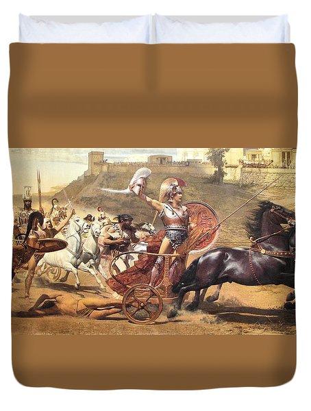 Triumphant Achilles Duvet Cover