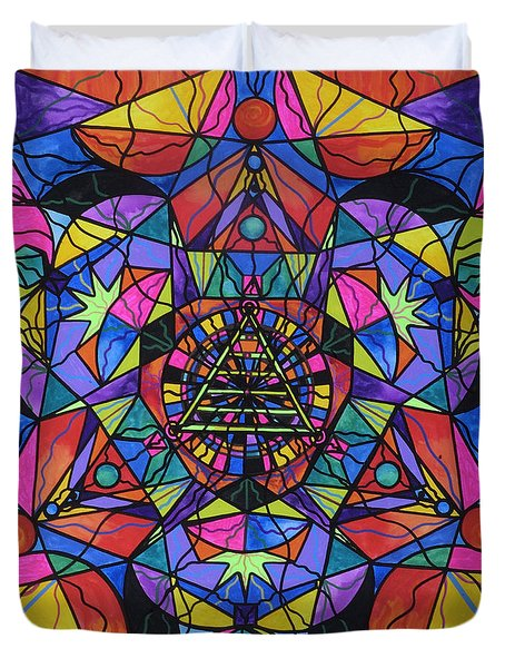 Triune Transformation Duvet Cover by Teal Eye  Print Store