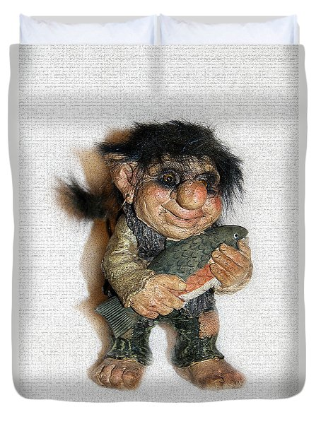Troll Fisherman Duvet Cover by Sergey Lukashin