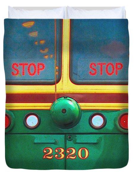 Trolley Car - Digital Art Duvet Cover