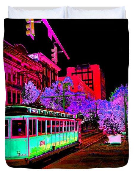 Trolley Night Digital  Duvet Cover