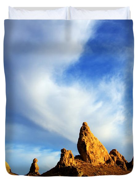Trona Pinnacles California Duvet Cover by Bob Christopher