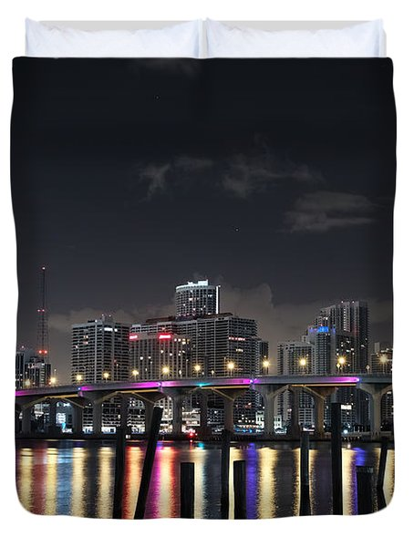 Trooper Bridge Miami Duvet Cover