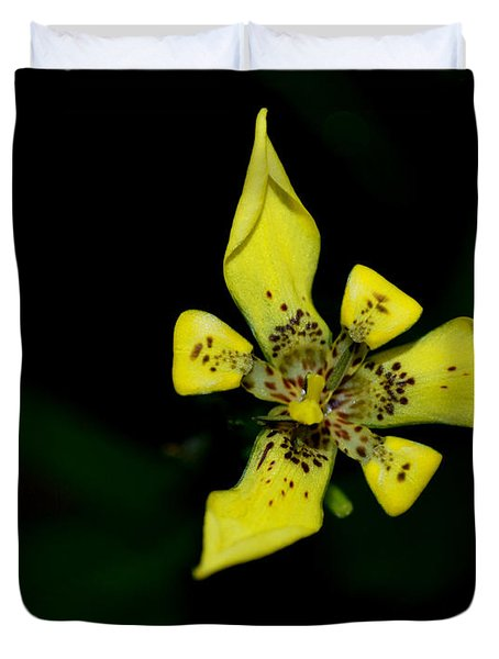 Duvet Cover featuring the photograph Tropic Yellow by Miguel Winterpacht