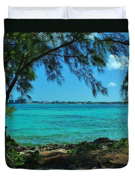 Tropical Aqua Blue Waters  Duvet Cover