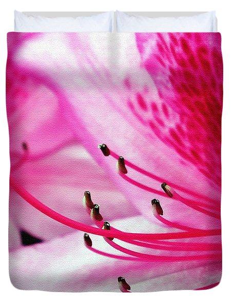 Tropical Azalea Duvet Cover by Kaye Menner