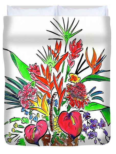 Tropical Basket Duvet Cover