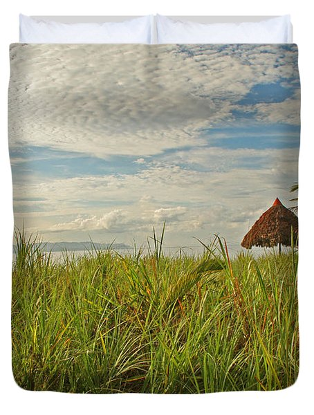 Duvet Cover featuring the photograph Tropical Beach Landscape by Peggy Collins