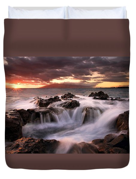 Duvet Cover featuring the photograph Tropical Cauldron by Mike  Dawson