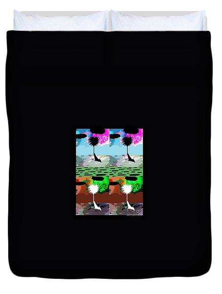 Duvet Cover featuring the digital art Tropical Daze 2 by Ann Calvo