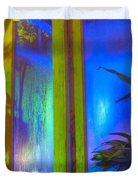 Tropical Door Duvet Cover
