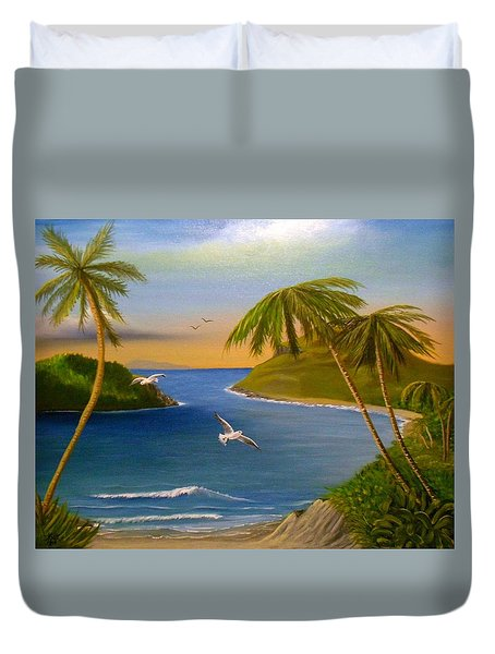 Tropical Escape Duvet Cover by Sheri Keith