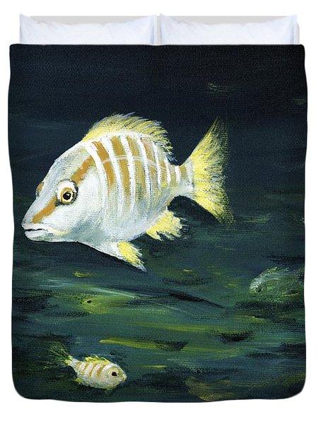 Tropical Fish Duvet Cover by Anastasiya Malakhova