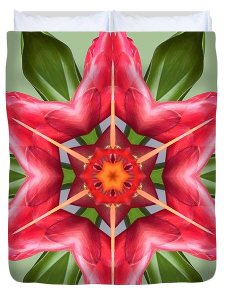 Tropical Flower Mandala Duvet Cover