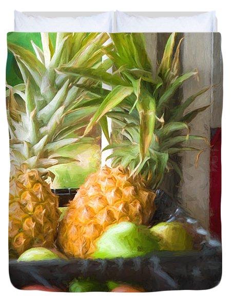 Tropical Fruitstand Duvet Cover