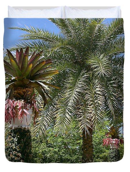 Tropical Garden Duvet Cover by Kim Hojnacki