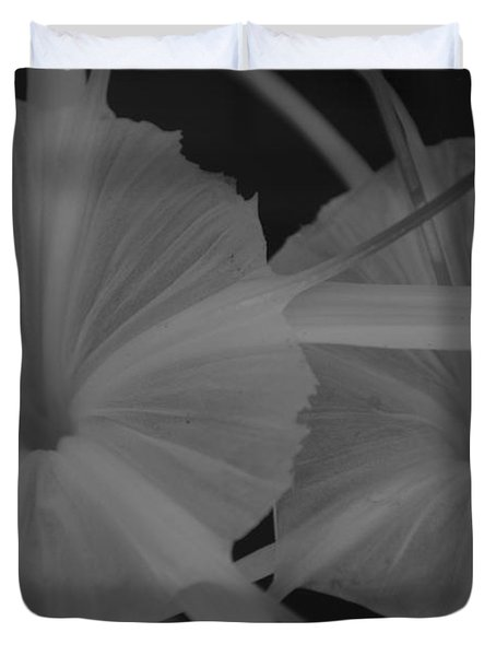 Duvet Cover featuring the photograph Tropical Garden by Miguel Winterpacht