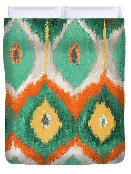 Tropical Ikat II Duvet Cover