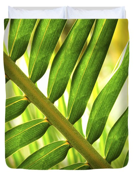 Tropical Leaf Duvet Cover by Elena Elisseeva