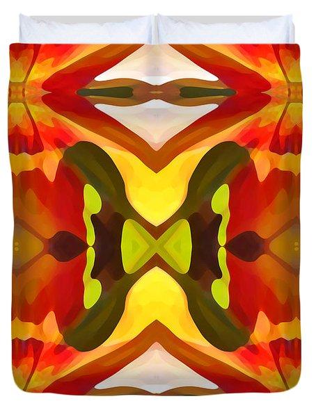 Tropical Leaf Pattern  11 Duvet Cover by Amy Vangsgard