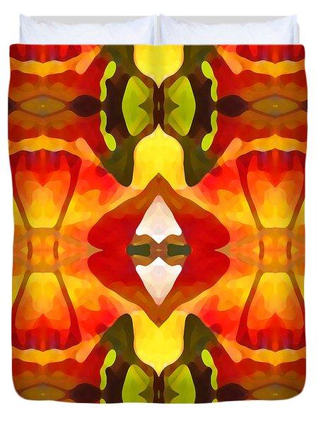 Tropical Leaf Pattern  12 Duvet Cover by Amy Vangsgard