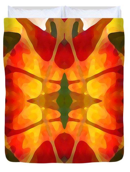 Tropical Leaf Pattern5 Duvet Cover by Amy Vangsgard