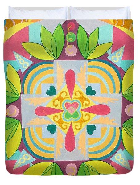 Tropical Mandala Duvet Cover