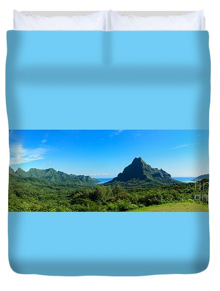 Tropical Moorea Panorama Duvet Cover