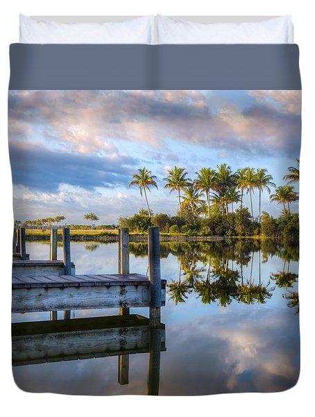 Tropical Morning Duvet Cover by Debra and Dave Vanderlaan