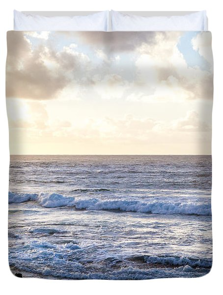 Duvet Cover featuring the photograph Tropical Morning  by Roselynne Broussard