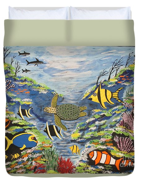Tropical Paradise Duvet Cover by Jeffrey Koss
