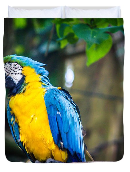 Tropical Parrot Duvet Cover